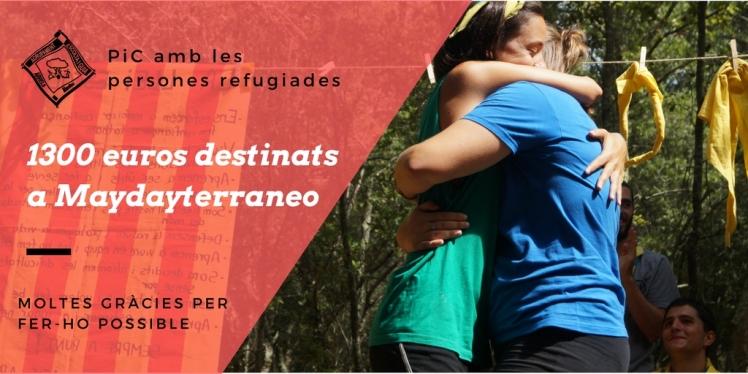 1300 euros destinats a Maydayterraneo